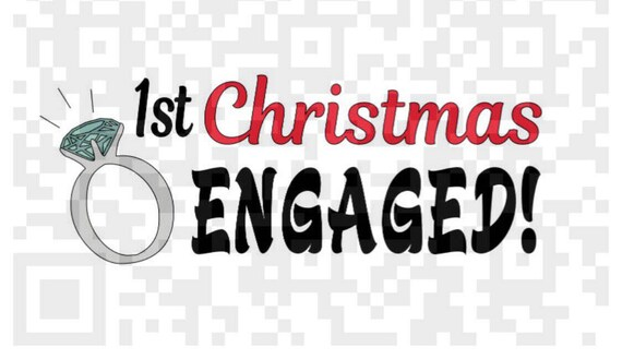 First Christmas Engaged PNG, 1st Christmas Engaged PNG, Engagement Digital Cutting File, Png, JPEG, Sublimation design Print File, Christmas