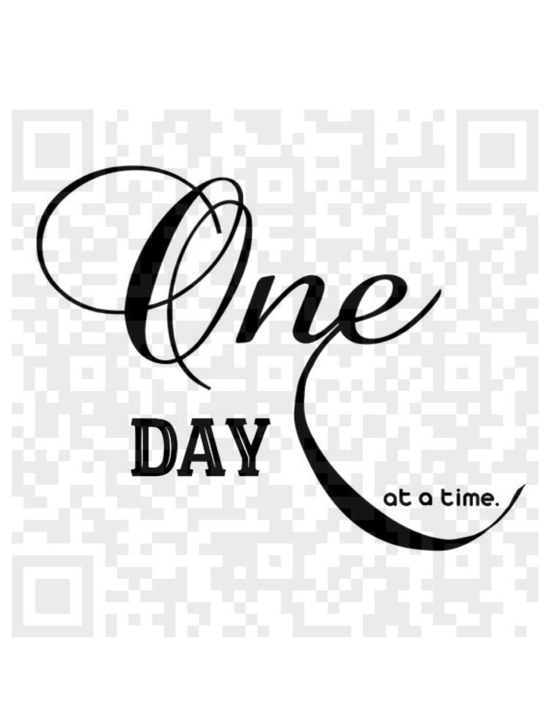 One Day At A Time Png One Day At A Time Quote 12 Step Etsy