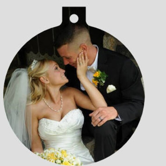 Our First Christmas Ornaments, Personalized ornament, Personalized Anniversary Ornament, Photo Ornament, Wedding Photo Ornament, Tree Decor
