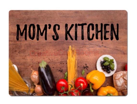 Glass cutting board, Mom's Kitchen glass cutting board, Mom cutting board, mom's chopping board, kitchen cutting board