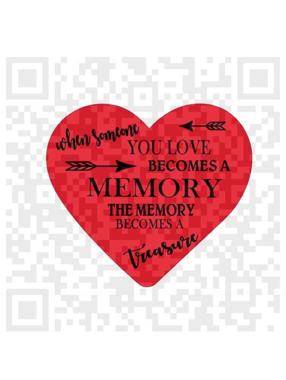When someone you love becomes a memory SVG, Memorial quote Svg, Heart Svg, Print and Cut File, Vector Art, Clip art, Cricut file