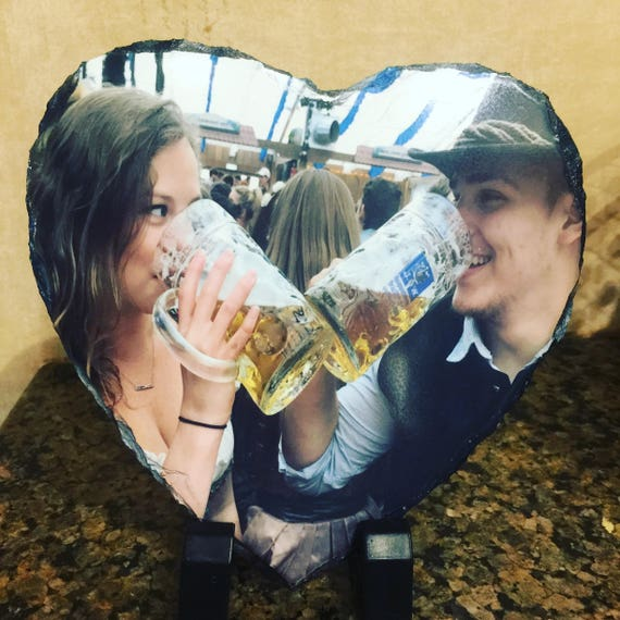 Personalized Photo Slate, Slate Photo Frame, Custom photo slate, Personalised Heart Photo Slate, Custom Printed Photo Gift, Custom slate art