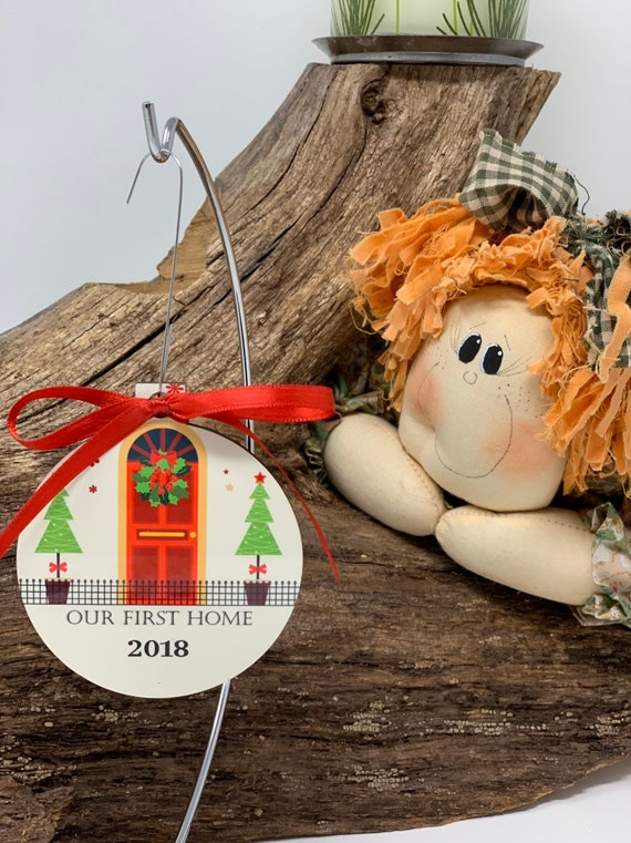 Our First Home Christmas Ornament, First Home ornament, Personalized ornament