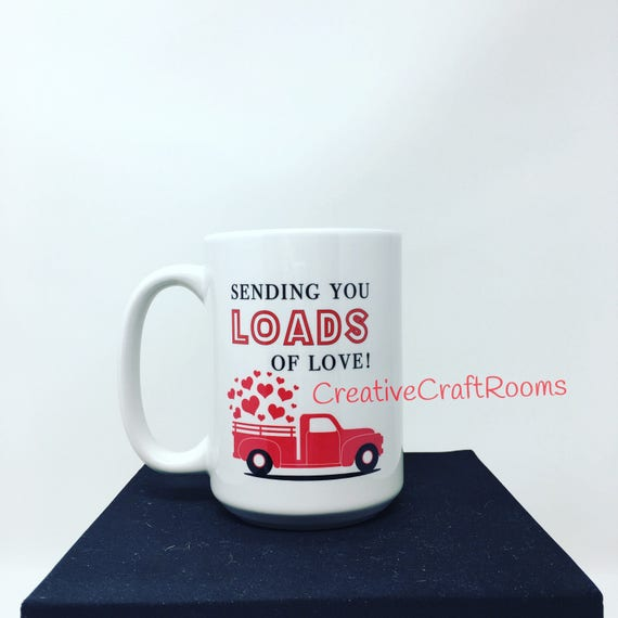 Valentines Day Coffee Mug, Sending you loads of love mug, Hearts Mug, Love Coffee Mug, Mom Mug, Mom Coffee Mug, Spouse Anniversary Large mug