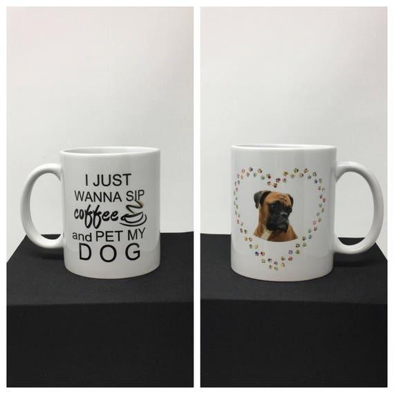 Boxer, Dog Mug, Dog Breed Mug, I love my Boxer, Pet loss gift, Dog lover gift, Dog coffee cup, Boxer Cup, Funny Dog Coffee Mug