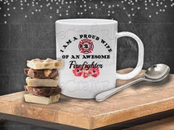 I am a proud wife of an awesome firefighter sublimation design, clipart, Firefighter clipart, Sublimation print, Sublimation graphics, PNG