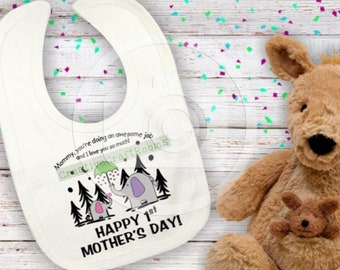 Happy 1st Mother's Day instant download for Sublimation printing, Mommy, you're doing an awesome job and I love you very much Png