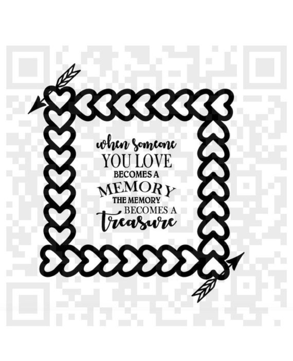 When Someone You Love Becomes A Memory Svg Memorial Quote Etsy