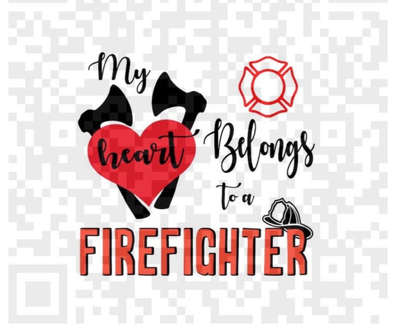 Sublimation, My heart belongs to a Firefighter PNG, Firefighter Sublimation png, Firefighter png, Sublimation Design, Sublimation print, Png