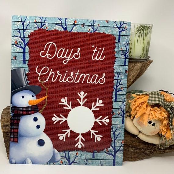 Snowman Christmas Countdown, Christmas Countdown Dry Erase Board, Countdown Dry Erase, Countdown to Christmas, Countdown to Christmas sign
