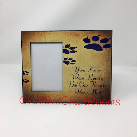 Your paws were ready, Your wings were ready, Pet Loss Frame, Rainbow Bridge, Dog Memorial Frame, Loss of Pet, Pet Frame, Dog loss frame