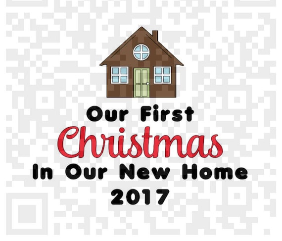 Our First Christmas in our new home PNG, 1st Christmas PNG, New Home png, Cricut print and cut, Sublimation Design, New Home Png Cut file
