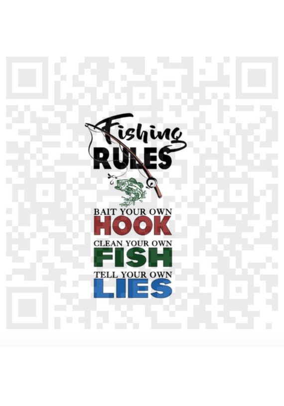 Fishing Rules png, Fishing Rules Wall Art quote, DIGITAL, Mens Fishing Decor,  Fishing humor, Sublimation Print, Fishing, Sublimation Design