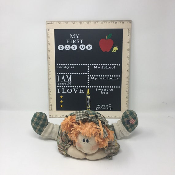 Back To School Chalkboard, First Day Of School Chalkboard, Back To School Sign, Ruler Framed Chalkboard, Reusable Chalkboard, Ruler sign