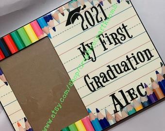 Kindergarten Graduate Photo Frame, Kindergarten Graduate Personalized Picture Frame,  Kindergartner Frame, Kindergarten Graduation Gift