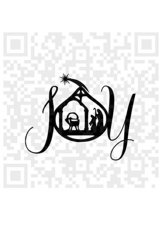 Joy SVG, Joy Png, Christmas SVG, Jesus, Christianity, Nativity Scene Silhouette, Birth of Jesus, Silhouette scene, Cricut print and cut, SVG