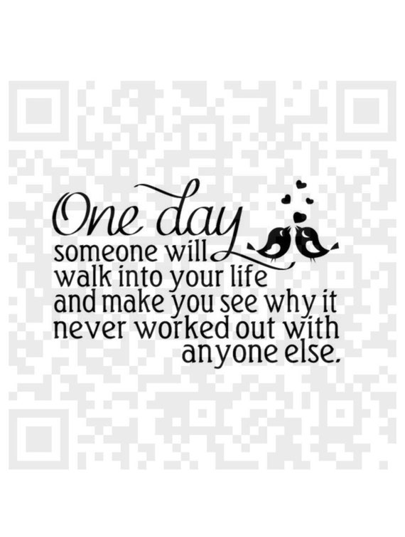 One Day Someone Will Walk Into Your Life Svg Inspirational Etsy