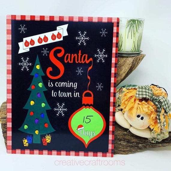 Christmas Countdown, Christmas Countdown Dry Erase Board, Countdown Dry Erase, Countdown to Christmas, Countdown to Christmas sign