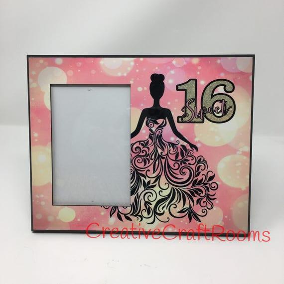 16th Birthday Frame, Sweet Sixteen, Sweet sixteen frame, Sweet16, Sweet 16 frame, Sweet 16 Photo Frame, Sweet Sixteen Frame, Quinceañera