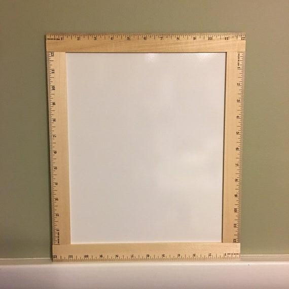 Ruler Framed Blank White board, Back to School Reusable Dry Erase board, Back to School Blank White Board, Ruler Blank Dry Erase Board