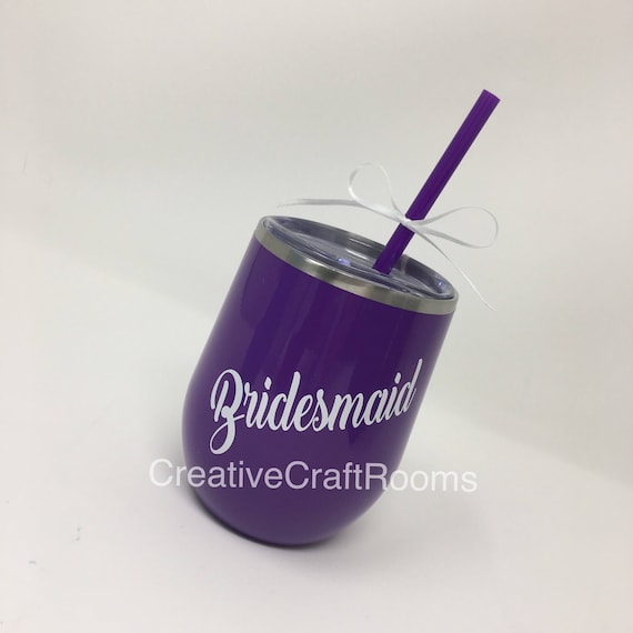 Bachelorette Tumblers, Wedding Party, Bachelorette Party Favors, Stemless Wine Tumblers, Gifts for Bridal Party, Wine Tumbler Bridesmaid Cup