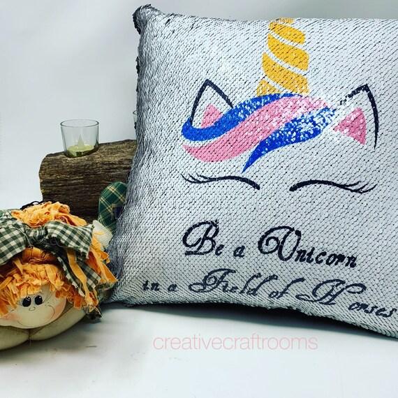 Unicorn pillow, Mermaid pillow, Girl unicorn pillow, Pillow, Cushion Cover, Pillow Cover, Magic pillow