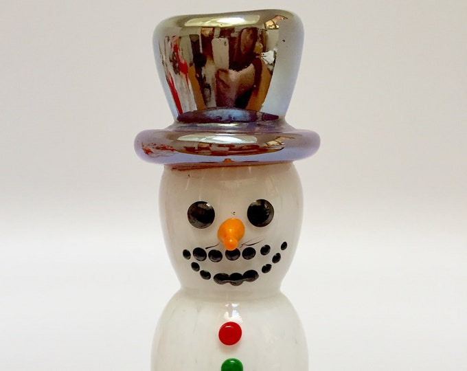 Holiday Winter Snowmen Hand Blown