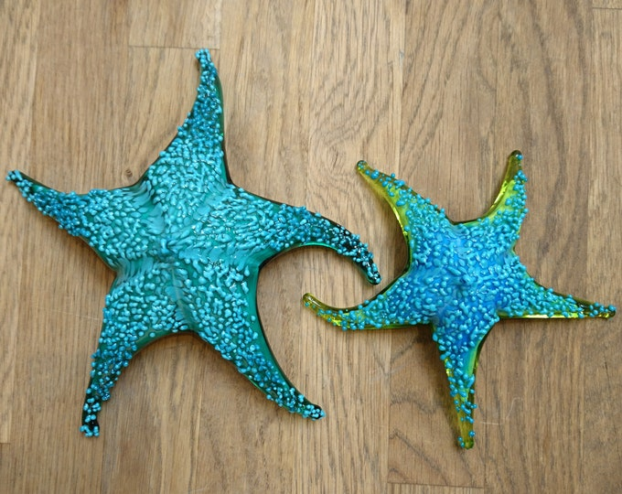 Colorful Handmade Glass Sea Star