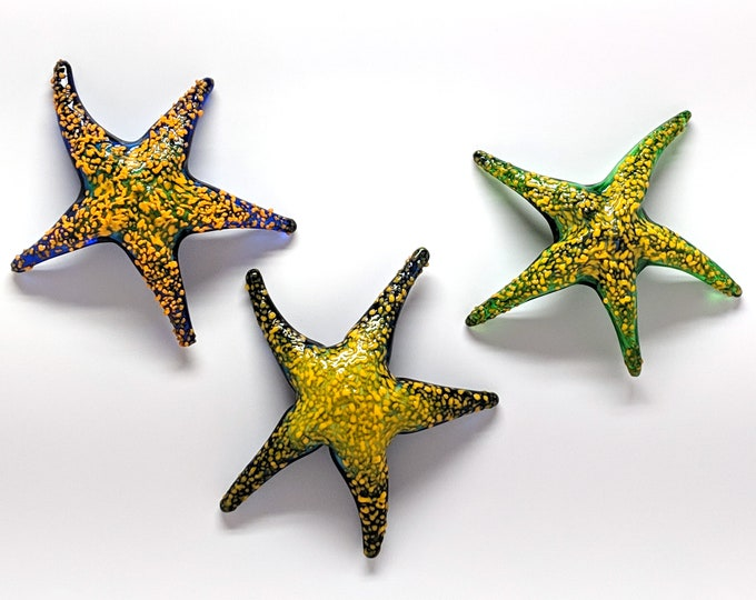 Colorful Handmade Glass Sea Star