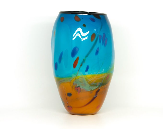 Handblown Glass Landscape Vase