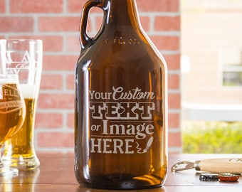 Custom Growler, Beer Gift, Personalized Growler, Beer Growler, Birthday Gift For Him, Engraved Growler, Monogram Growler, Etched Growler