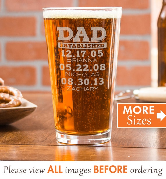 dad pint glass gifts for dad personalized beer glass for etsy