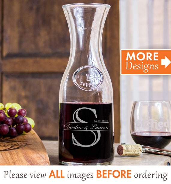Etsy Wedding Gifts: Personalized Wedding Gifts For Couple Wine Decanter Etched