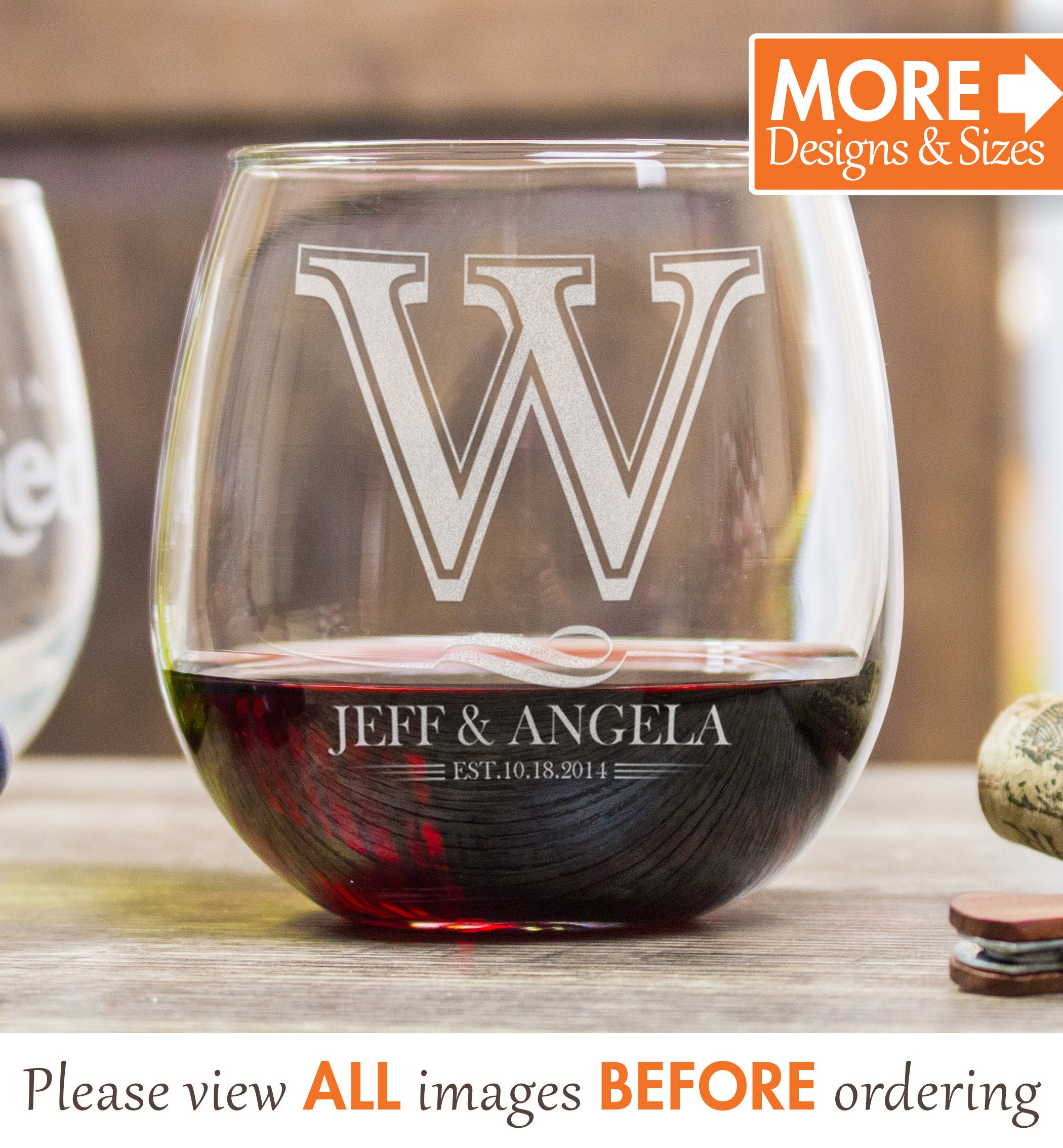 Wine As Wedding Gift: Wine Glasses Personalized Wedding Gifts For Couple