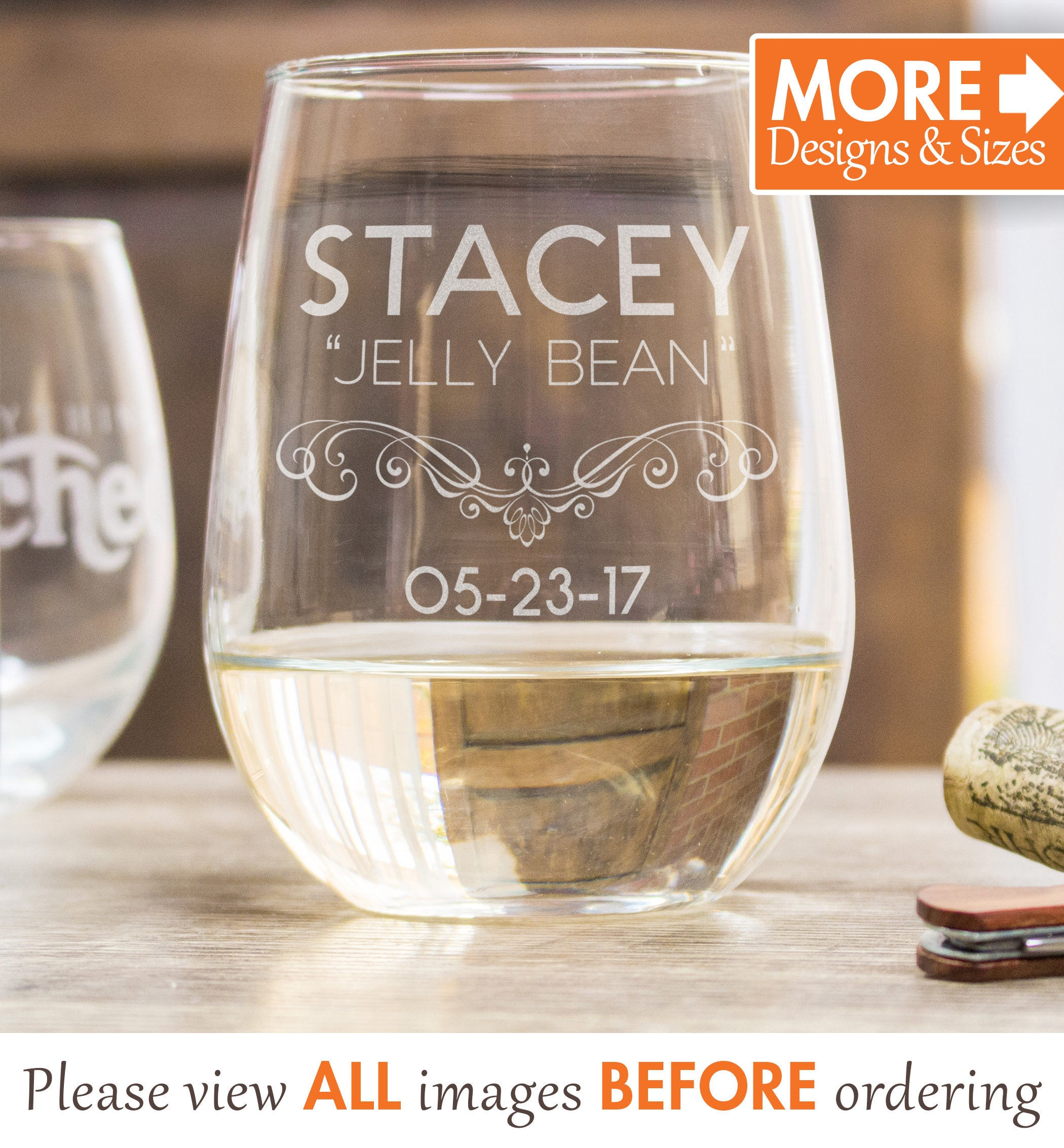 Personalized Wine Glasses For Mom Etched Wine Glasses Stemless Mothers Day Gift Custom Wine Glasses For Wife From Daughter Stemless