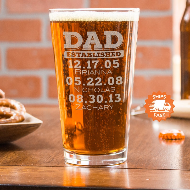 fathers day gift father's day beer glass dad gift image 0