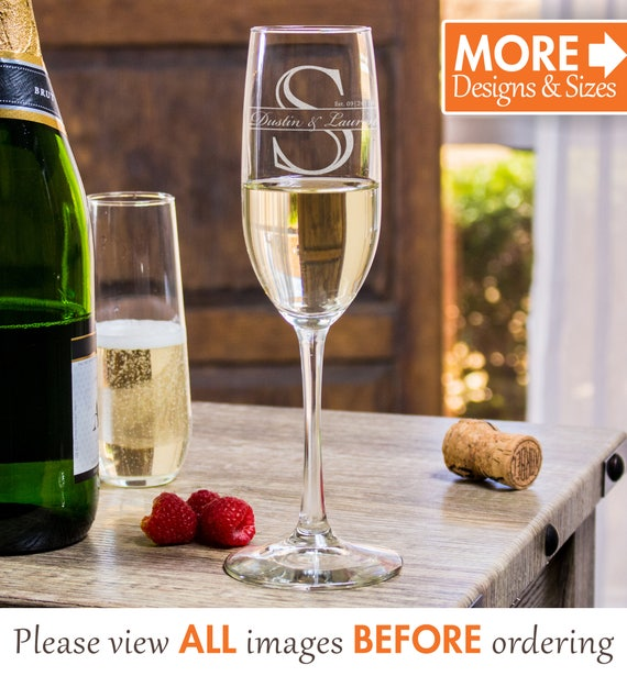 Wedding Champagne Flutes Wedding Favors For Guests Etched Etsy