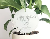 Mothers Day Gift - Personalised planter stick - Plant pot stick - Mother 39 s Day present - custom planter stick - mum pot plant - mum gift