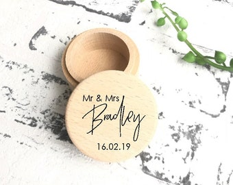 10f8e2d87a Personalised timber wedding Ring Box - Wooden Ring Box - Wedding Gift-  native tropical leaves ring box Personalised wedding ring holder
