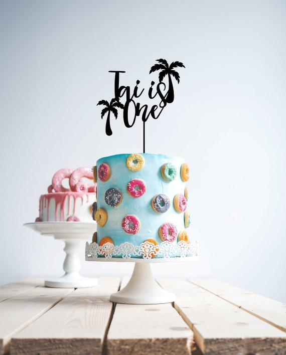 Sensational Beach Birthday Big Splash Palm Tropical Birthday Cake Topper Etsy Birthday Cards Printable Trancafe Filternl