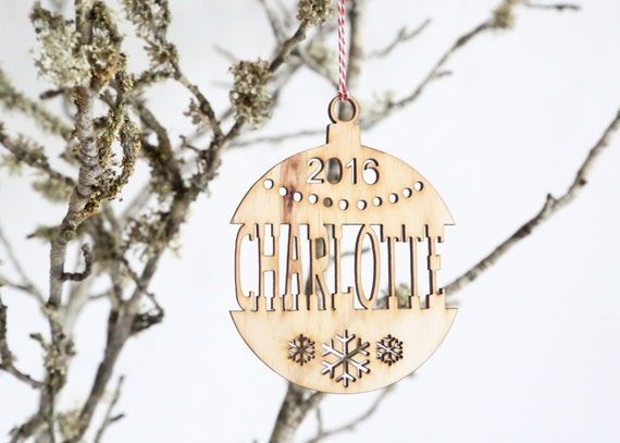 Christmas Tree Decorations Names.Personalised Wooden Christmas Tree Decoration Name Cut Out Custom Made Xmas Ornament First Christmas