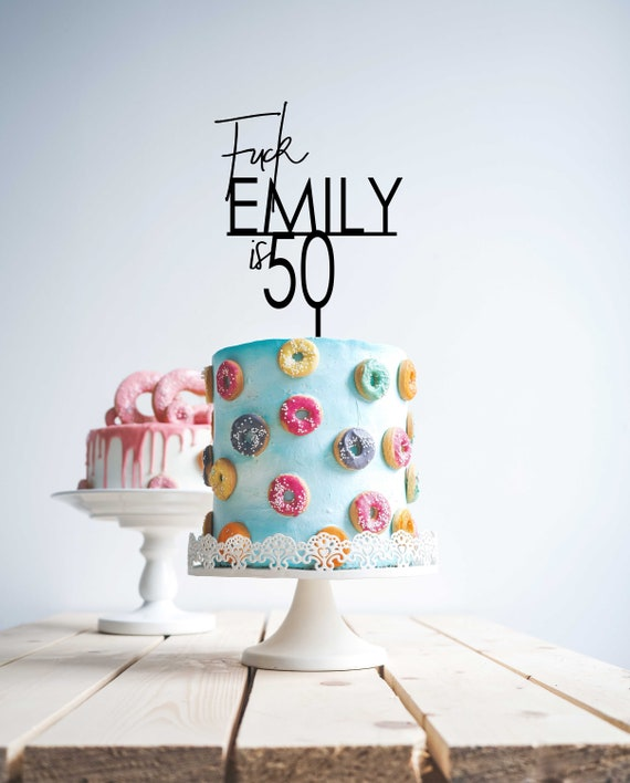 50th Name Cake Topper,50 Topper Custom Personalised Fifty customised 40 50 60