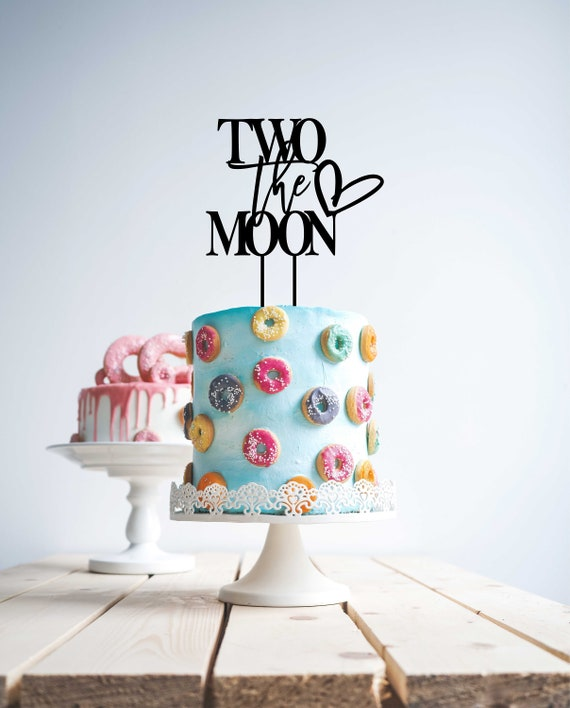 Stupendous Two The Moon Cake Topper 2Nd Birthday Two Birthday Cake Etsy Funny Birthday Cards Online Fluifree Goldxyz