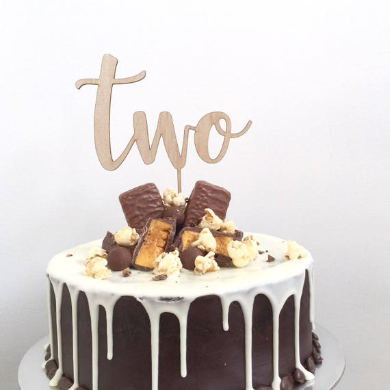 Astonishing Birthday Cake Topper Two Cake Topper 2Nd Birthday Cake Etsy Funny Birthday Cards Online Elaedamsfinfo