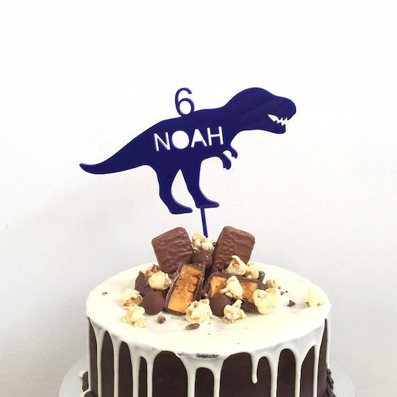 Personalised Dinosaur Cake Topper T Rex Trex Birthday Custom