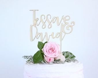 Personalise cake topper | custom cake topper | Custom couple name | Wedding cake topper personalised cake decoration