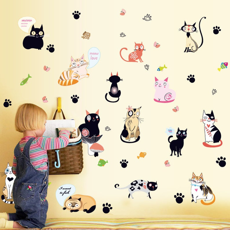 Cat Wall Stickers Decals AW7093 image 0