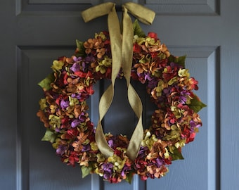 Beautiful Wreaths | Blended Hydrangea Wreath | SUMMER WREATH | Front Door Wreaths | Outdoor Wreaths | Summer Wreath