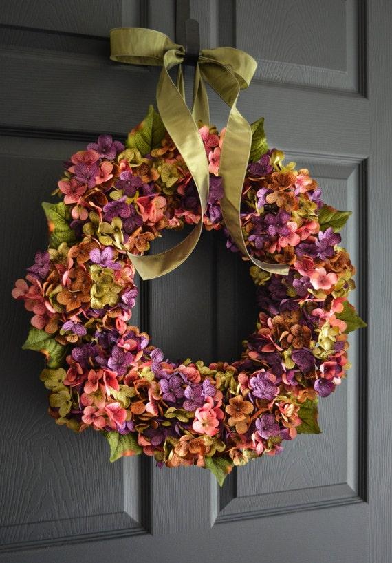 Beautiful Wreaths Blended Hydrangea Wreath Summer Wreaths | Etsy