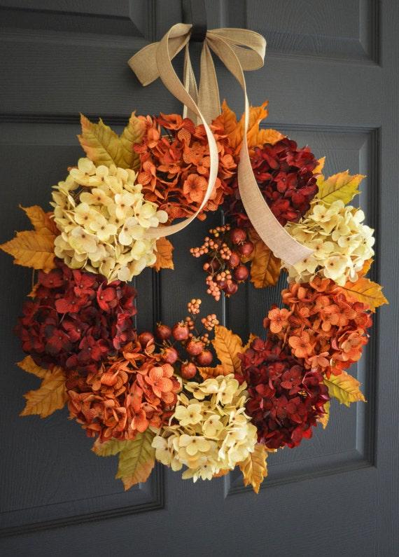 Merveilleux Fall Wreath Fall Decor Wreath Front Door Wreaths | Etsy
